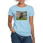 Lilies2/Rottweiler Women's Light T-Shirt