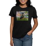 Lilies2/Rottweiler Women's Dark T-Shirt