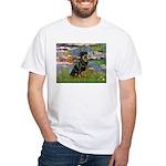 Lilies2/Rottweiler White T-Shirt
