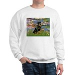 Lilies2/Rottweiler Sweatshirt