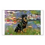 Lilies2/Rottweiler Sticker (Rectangle)