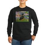 Lilies2/Rottweiler Long Sleeve Dark T-Shirt