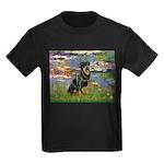 Lilies2/Rottweiler Kids Dark T-Shirt