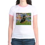 Lilies2/Rottweiler Jr. Ringer T-Shirt