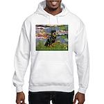 Lilies2/Rottweiler Hooded Sweatshirt