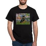 Lilies2/Rottweiler Dark T-Shirt