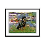Lilies2/Rottweiler Framed Panel Print