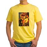 Mandolin Angel/Rottweiler Yellow T-Shirt
