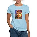 Mandolin Angel/Rottweiler Women's Light T-Shirt