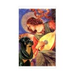 Mandolin Angel/Rottweiler Sticker (Rectangle)
