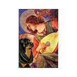 Mandolin Angel/Rottweiler Rectangle Magnet
