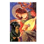 Mandolin Angel/Rottweiler Postcards (Package of 8)