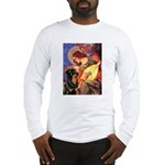 Mandolin Angel/Rottweiler Long Sleeve T-Shirt