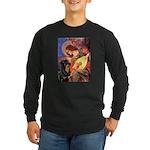Mandolin Angel/Rottweiler Long Sleeve Dark T-Shirt