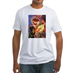 Mandolin Angel/Rottweiler Fitted T-Shirt