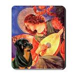 Mandolin Angel/Rottweiler Mousepad
