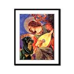 Mandolin Angel/Rottweiler Framed Panel Print