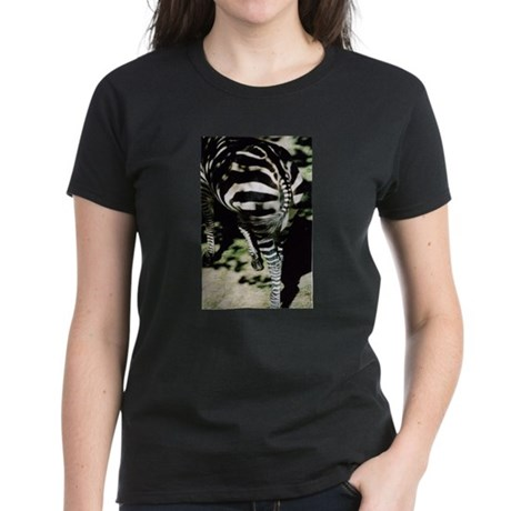 Zebra ZOOButt Women's Dark T-Shirt