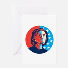 Hillary Clinton American Elections Greeting Cards