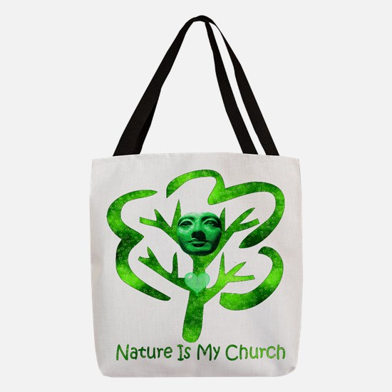 Nature Is My Church Polyester Tote Bag