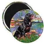Lilies2/Rottweiler Magnet