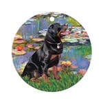 Lilies2/Rottweiler Ornament (Round)