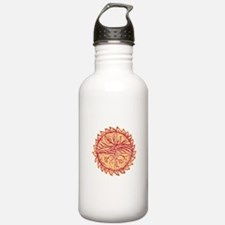 Plant Roots Field Sun Etching Water Bottle
