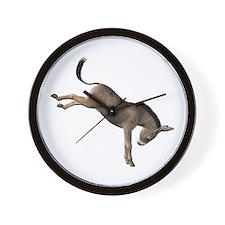 Kicking Donkey Wall Clock