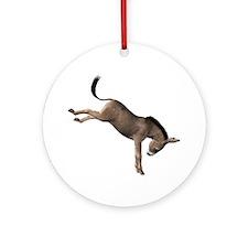 Kicking Donkey Ornament (Round)