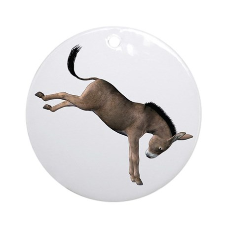 Kicking Donkey Ornament (Round)