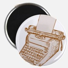 Vintage Old Style Typewriter Etching Magnets