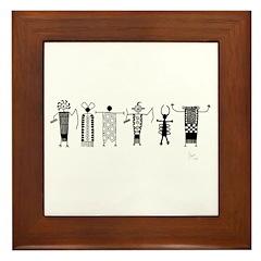 Group of Petroglyph Peoples Framed Tile