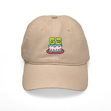 62 Year Old Birthday Cake Baseball Cap