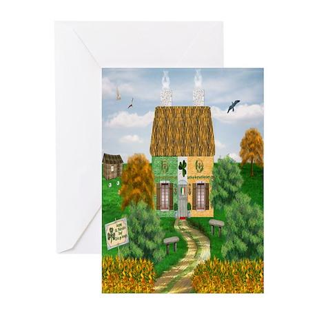 St. Patrick's Day Cottage Cards (Pk of 20)