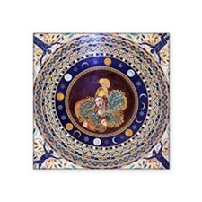 "Athena mosaic in the Sala a Square Sticker 3"" x 3"""