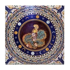 Athena mosaic in the Sala a croce gre Tile Coaster