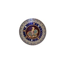 Athena mosaic in the Sala a croce grec Mini Button