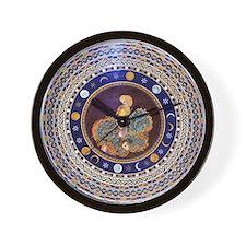 Athena mosaic in the Sala a croce greca Wall Clock