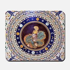 Athena mosaic in the Sala a croce greca  Mousepad