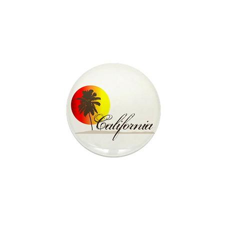 California Beaches Sunset Logo Mini Button (100 pa