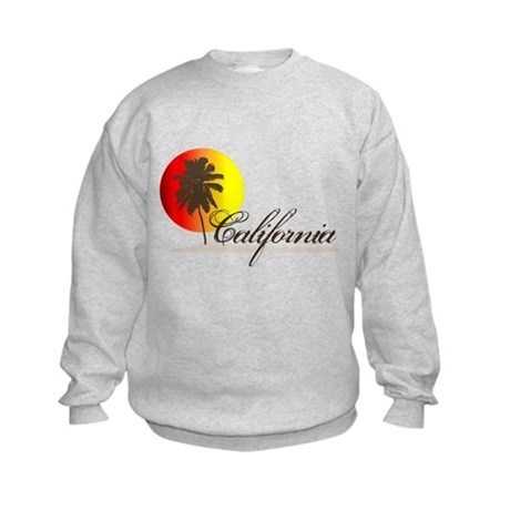 California Beaches Sunset Logo Kids Sweatshirt
