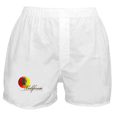California Beaches Sunset Logo Boxer Shorts