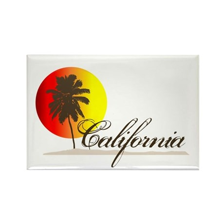 California Beaches Sunset Logo Rectangle Magnet