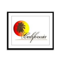 California Beaches Sunset Logo Framed Panel Print