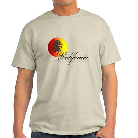 California Beaches Sunset Logo Light T-Shirt
