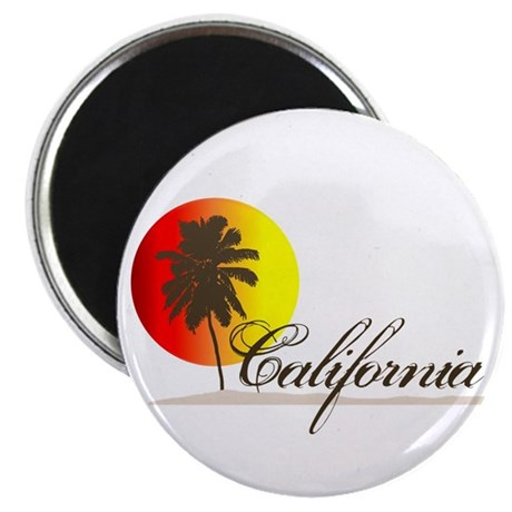 "California Beaches Sunset Logo 2.25"" Magnet (100 p"