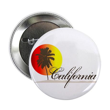 "California Beaches Sunset Logo 2.25"" Button (10 pa"