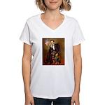 Lincoln's Rottweiler Women's V-Neck T-Shirt