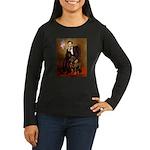 Lincoln's Rottweiler Women's Long Sleeve Dark T-Sh