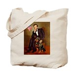Lincoln's Rottweiler Tote Bag
